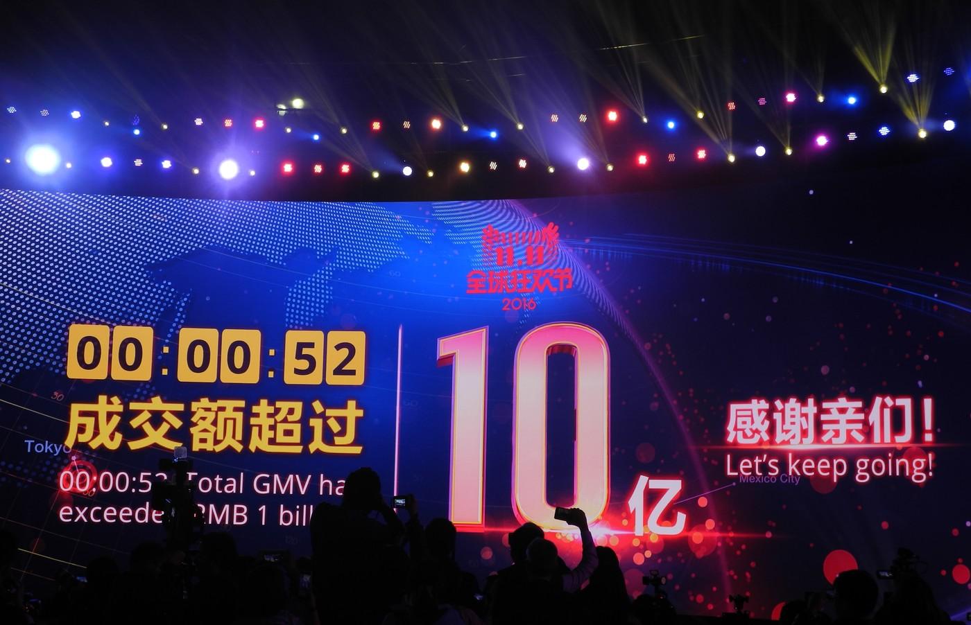 [深圳現場] 52秒、353億、90%,雙11開跑一小時三大數字