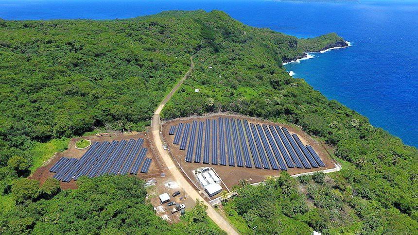 SolarCity與特斯拉用太陽能取代火力發電,供應一座南太平洋島嶼所有用電!