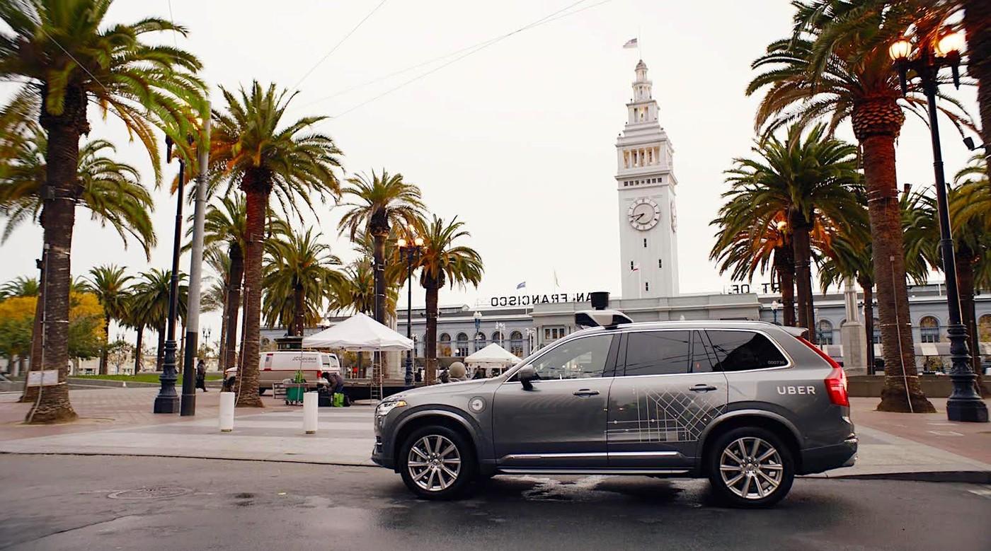 Uber無人車開始在舊金山載客,第一天上路就被目擊闖紅燈