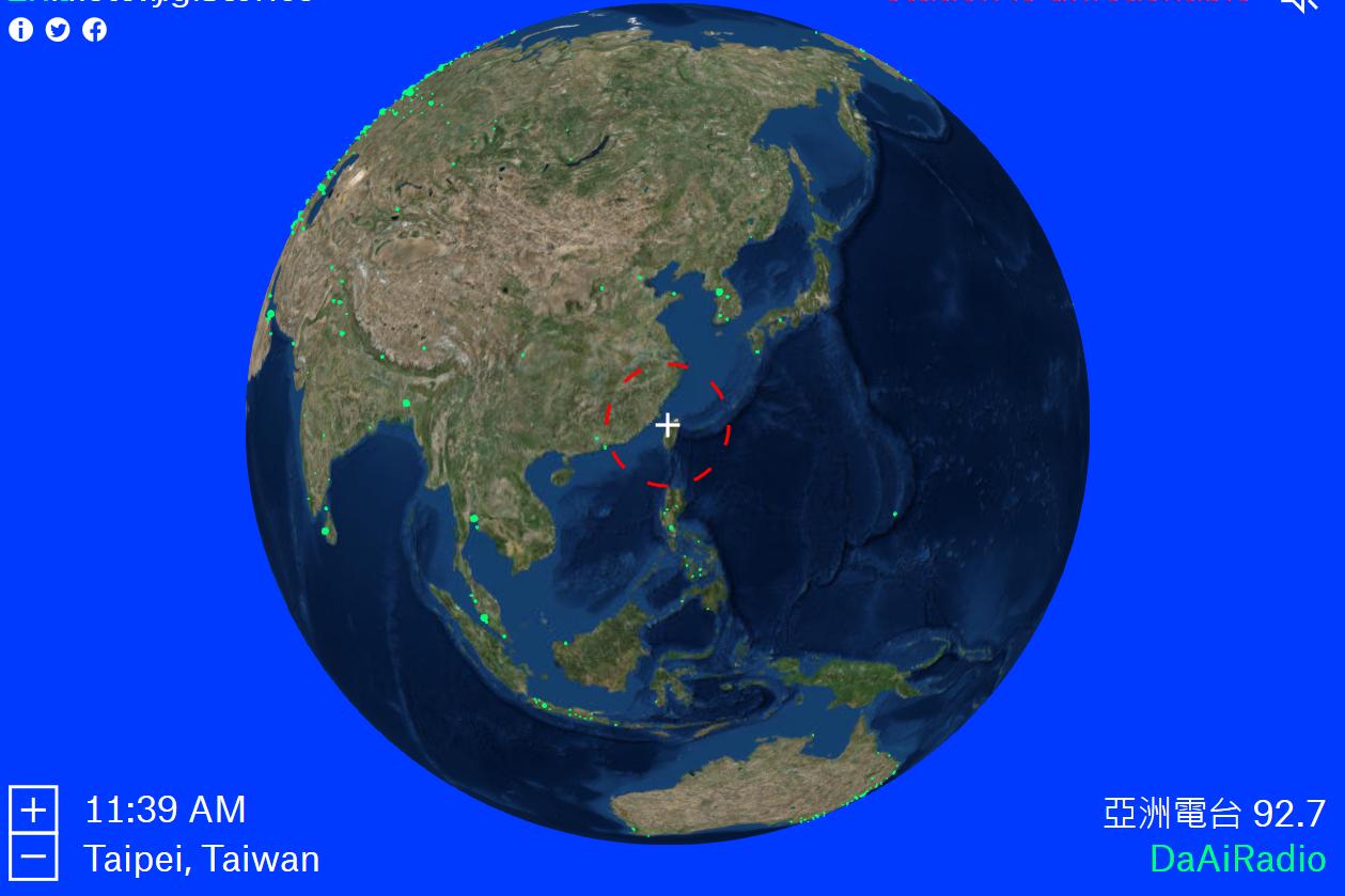 聽膩Spotify了嗎?來試試這個「電台版Google Earth」!