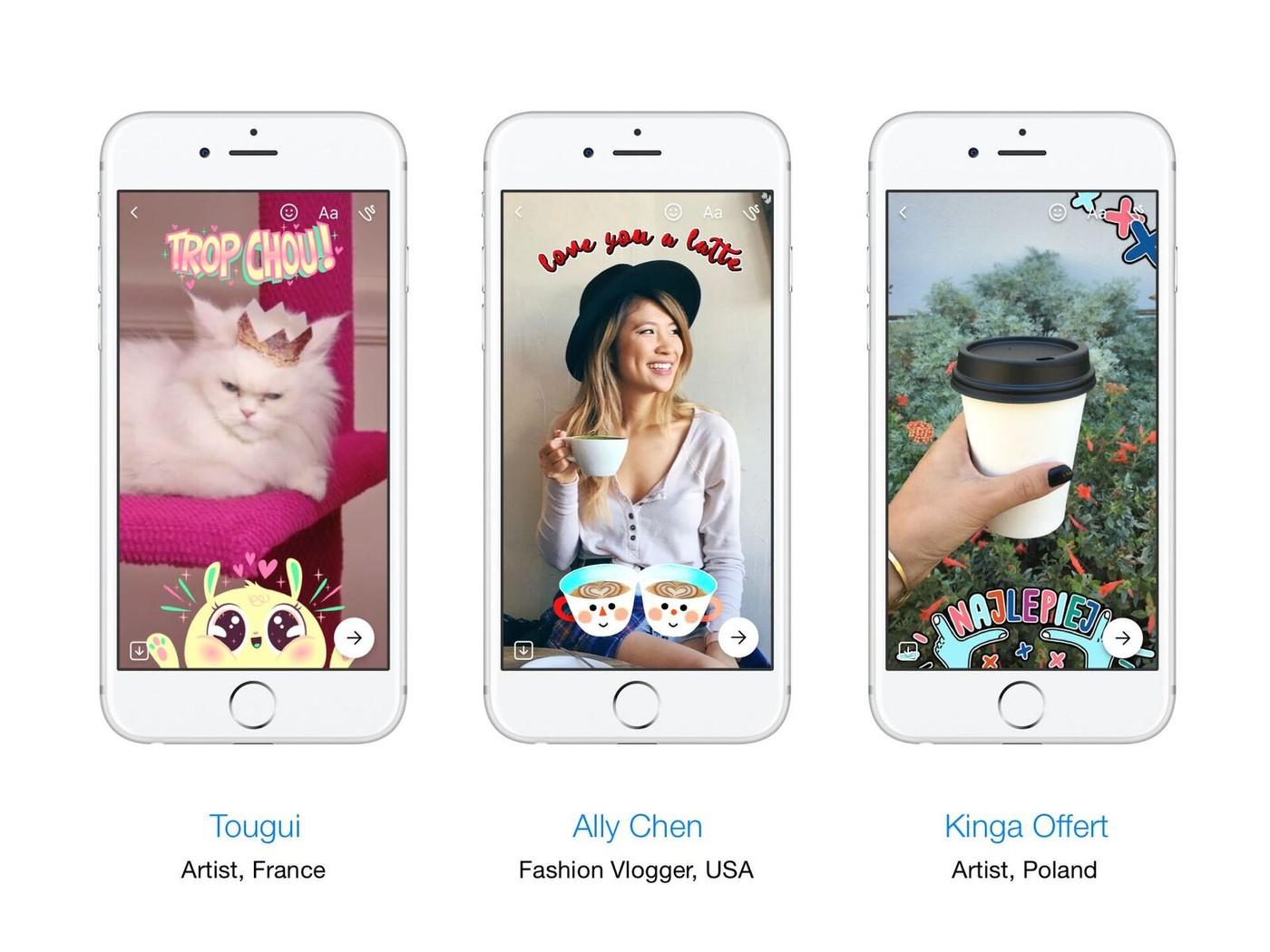 再向Snapchat致敬!Facebook在即時通App推出特效相機