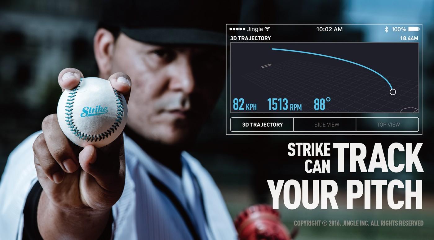 美日職棒都想要!台灣新創團隊Jingle打造全球第一顆「智慧棒球」Strike