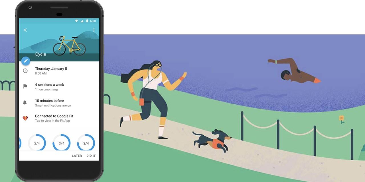 Google 月曆整合健康資訊,新的一年為你安排健身時間