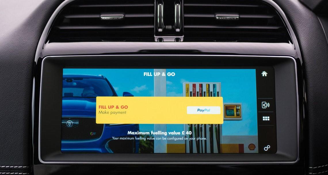 Jaguar聯手殼牌石油,以後透過車內觸控螢幕就能支付加油費用