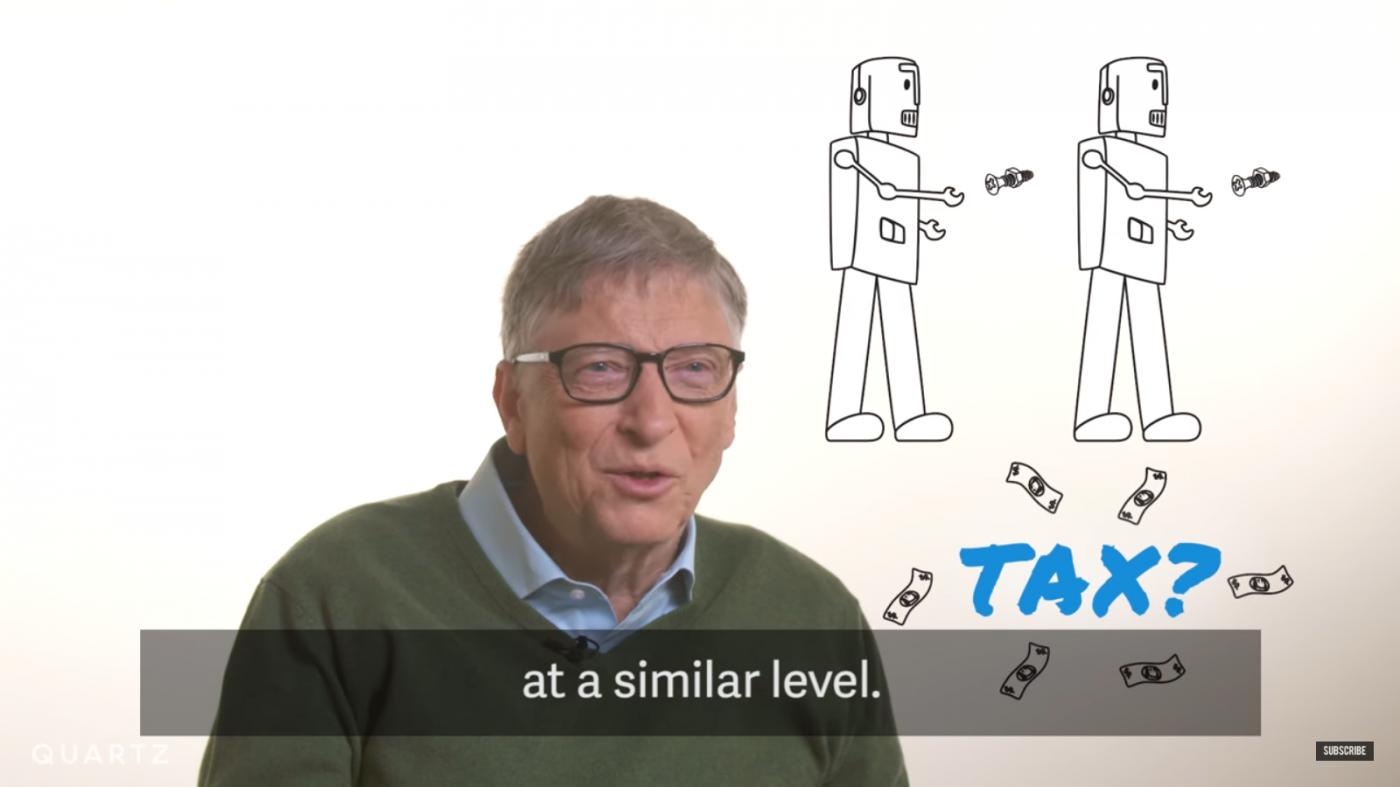 比爾·蓋茲:取代人類工作的機器人,也應像人類一樣繳稅