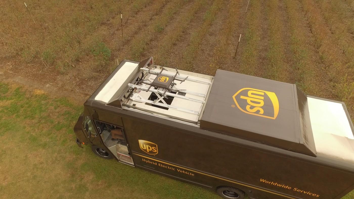 UPS正在實驗從貨車發射無人機,宅配完還可回來「取貨」