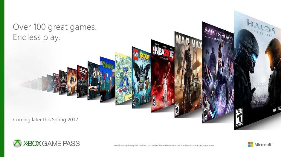 微軟推出「Xbox Game Pass」,月付300元就能暢玩超過100款遊戲!