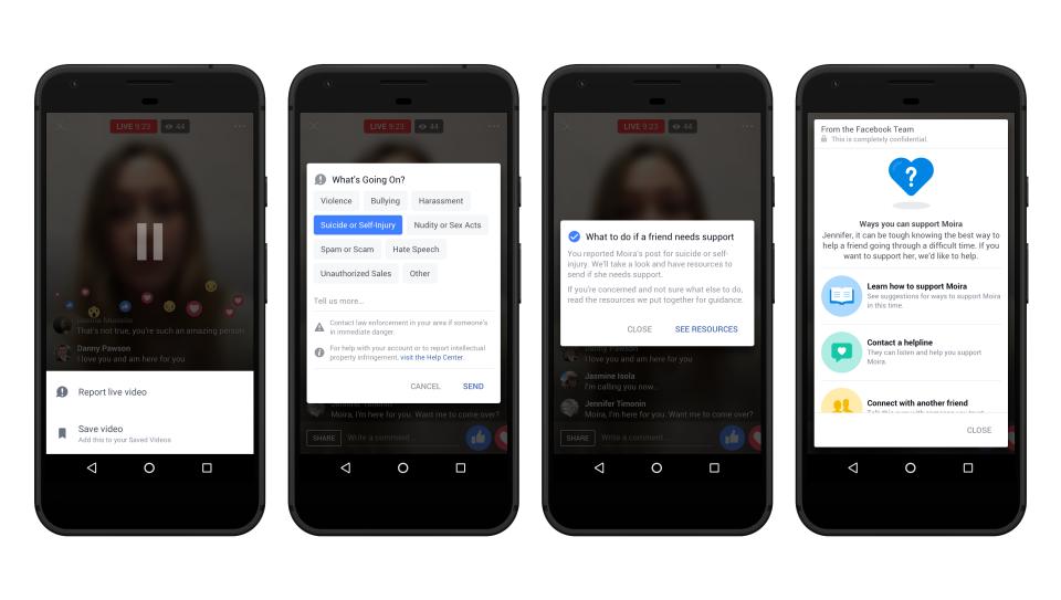 Facebook運用人工智慧開發自殺預防及緊急協助功能