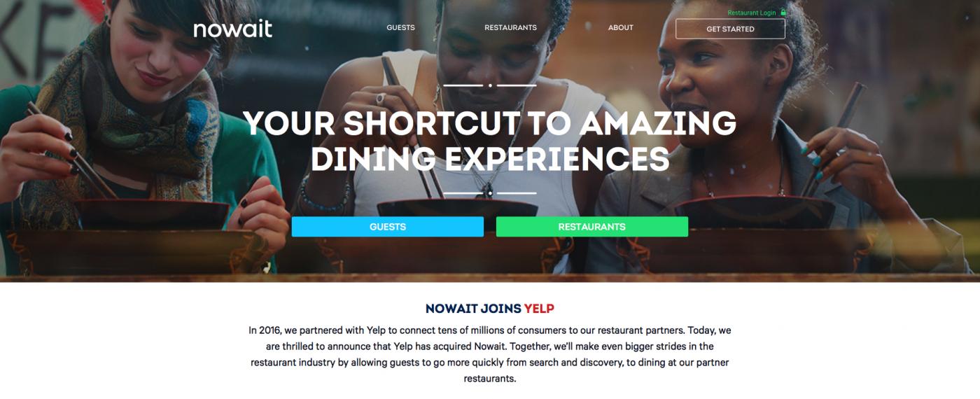 從投資者升級老闆,Yelp宣布以4千萬美元買下即時候位服務NoWait