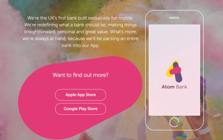 英國手機銀行Atom Bank獲1.02億美元融資,估值達3.2億美元