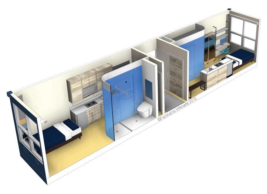 這家開發商做出的微型公寓,要免費送給城市流浪漢