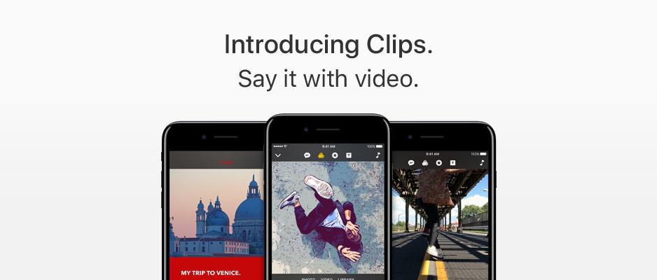趕流行還加上創新元素!蘋果推出獨立影像編輯app「Clips」邀用戶大玩特效
