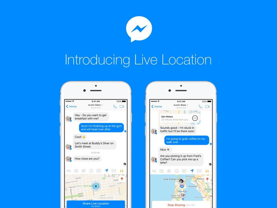 追擊Google地圖新功能,Facebook Messenger現在也讓用戶分享限定1小時的即時位置