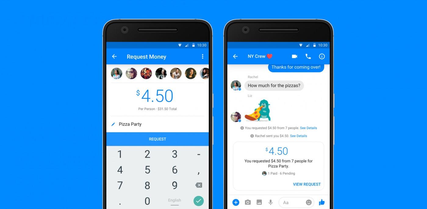 平攤餐費更容易!Facebook推出Messenger群組支付功能