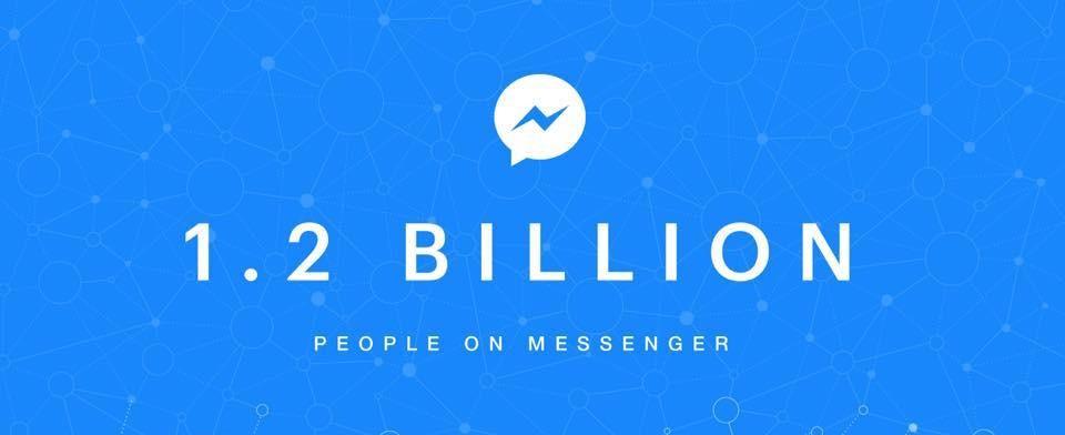 8個月新增2億人!Facebook Messenger宣布每月活躍用戶突破12億