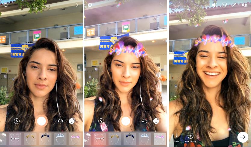 Instagram推出自拍濾鏡等新功能致敬Snapchat,產品負責人:產業就是這樣運作