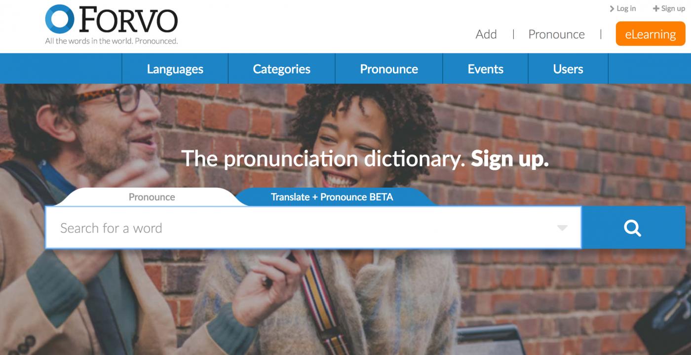 Forvo App用道地真人發音練習英文發音課,拒絕機器人發音
