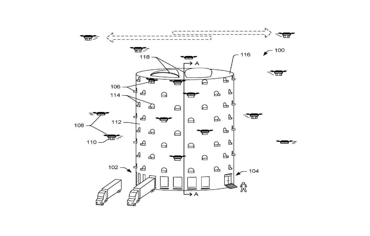 亞馬遜專利:無人機物流塔加快都會區送貨速度