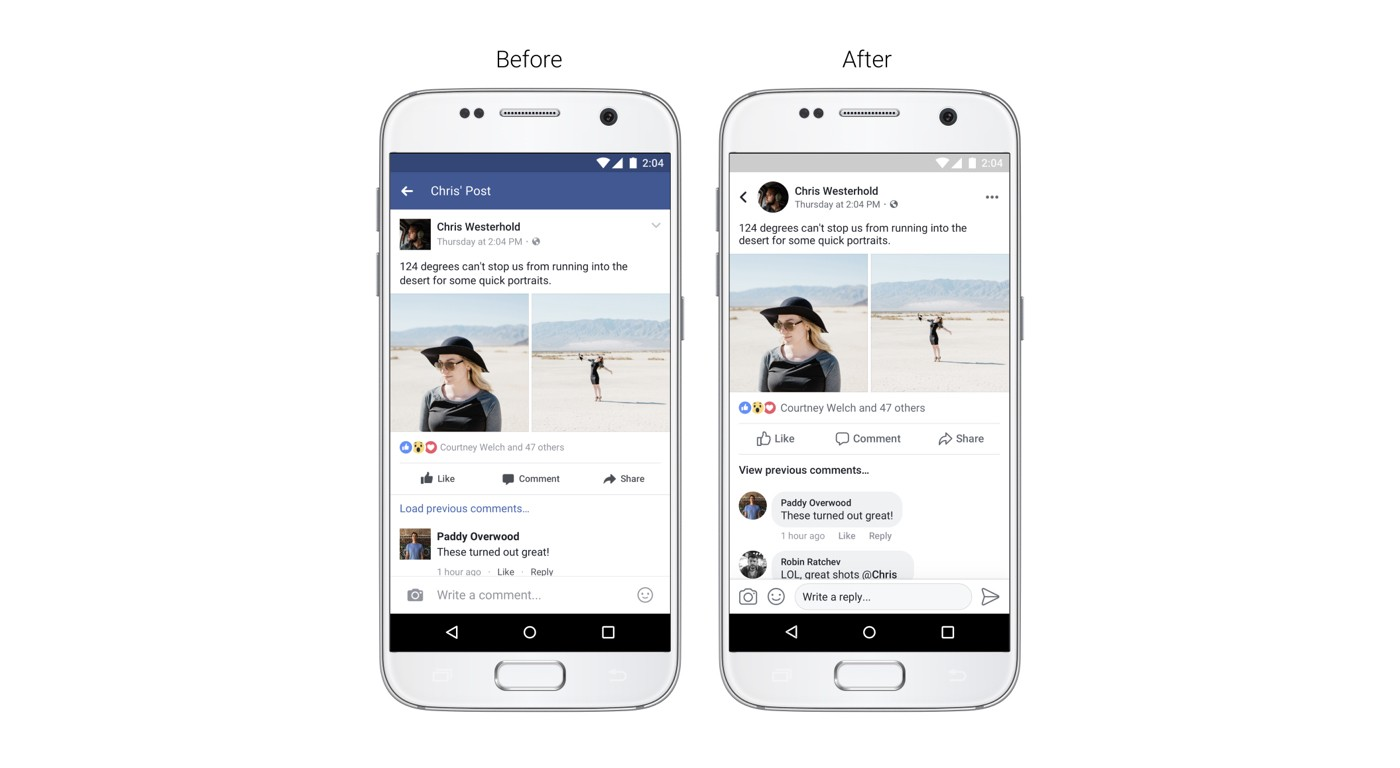 Facebook動態時報大改版!顏色變灰、頭像變圓、留言變泡泡