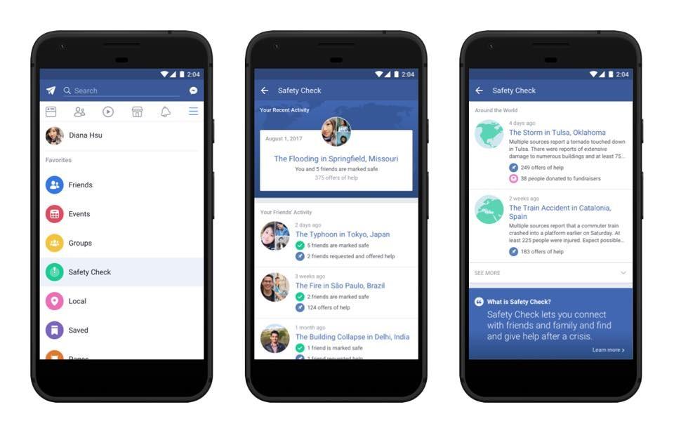 Facebook為「平安通報站」設立專屬塗鴉牆!各地天災人禍都能即時報平安