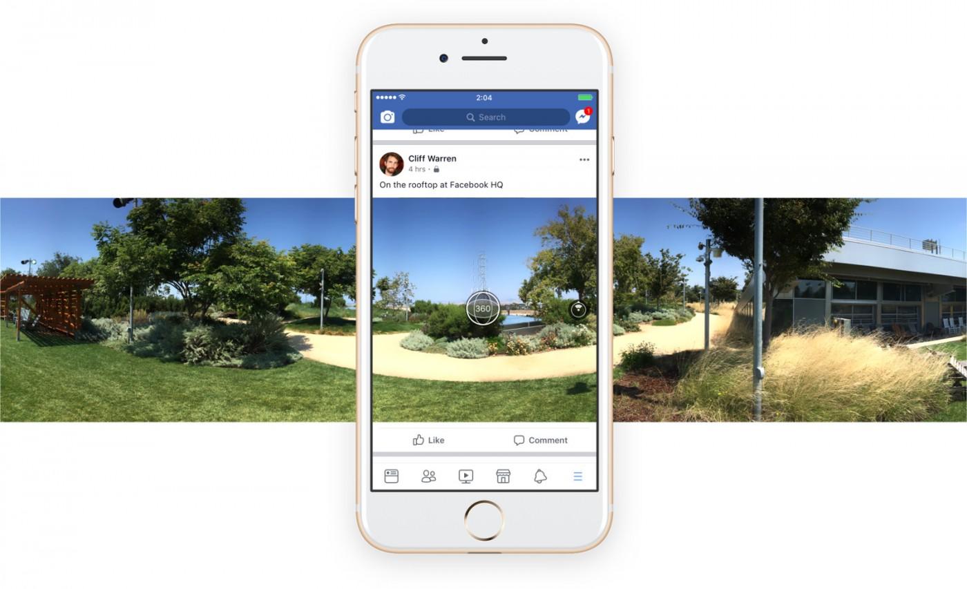 來用Facebook拍照!App更新讓用戶直接拍攝360度照片並上傳塗鴉牆