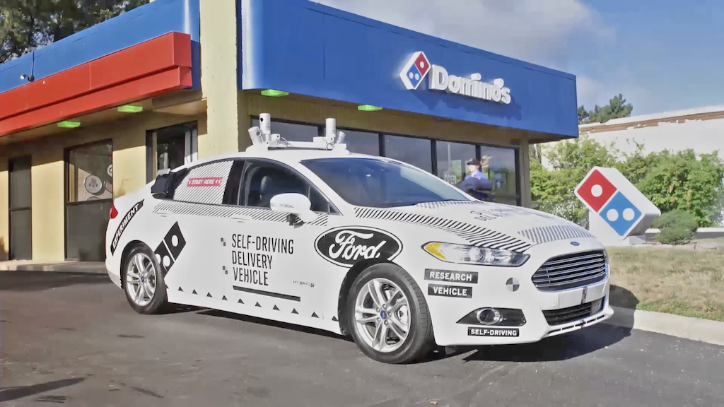無人車送披薩!福特與達美樂將在美國上路實測