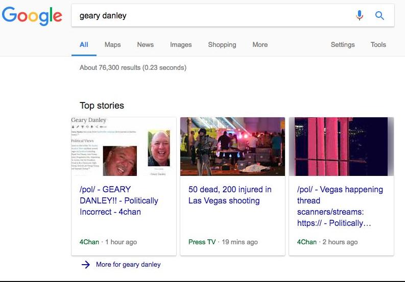 演算法昏頭?Google新聞成為散播槍擊慘案假消息的幫兇