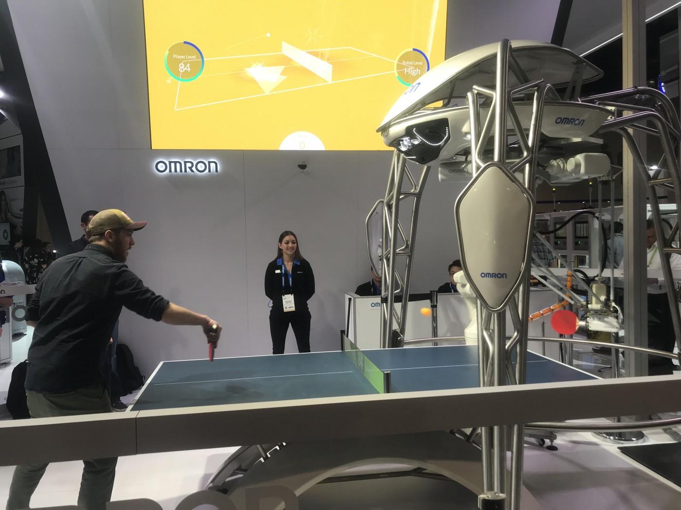 OMRON桌球机器人