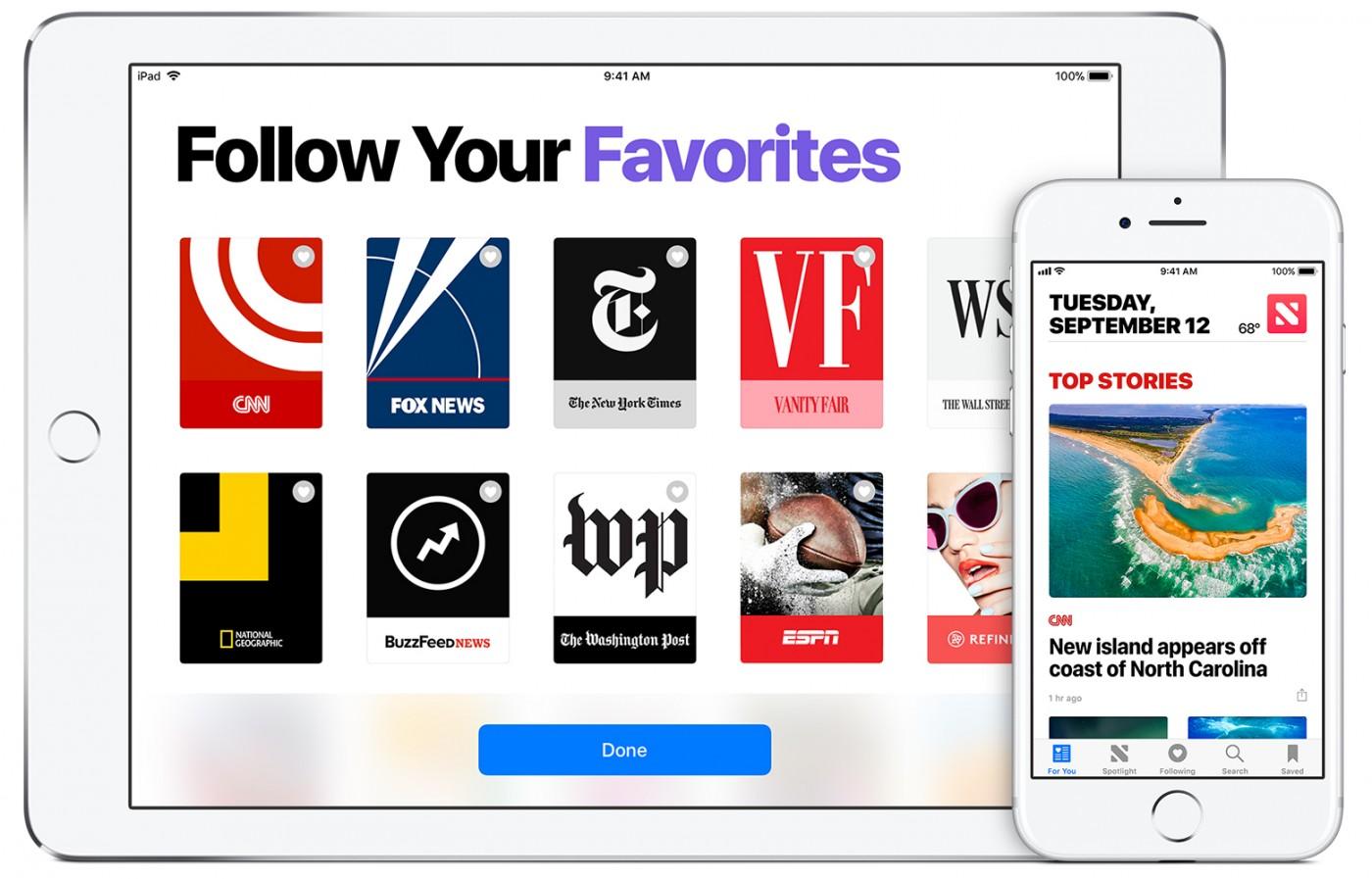 找上國際三大報談判,蘋果強化Apple News為「串流訂閱包」準備
