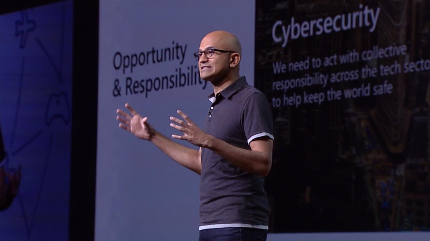 隱私權是人權!納德拉強調微軟的科技道德三支柱