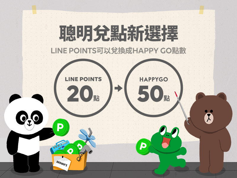 HAPPY GO去年外部轉入點數量破億,LINE POINTS貢獻逾半