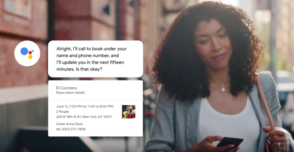 讓AI幫忙餐廳訂位!Google Duplex技術正式上線