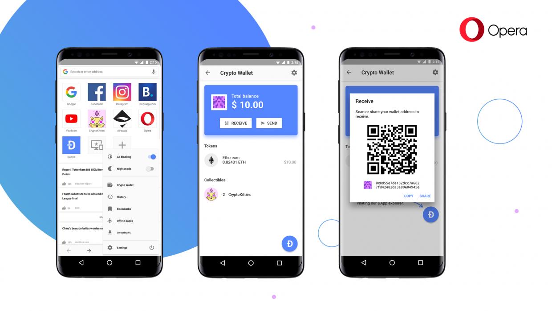 簡化手機交易流程,Opera推內建密碼貨幣錢包的瀏覽器