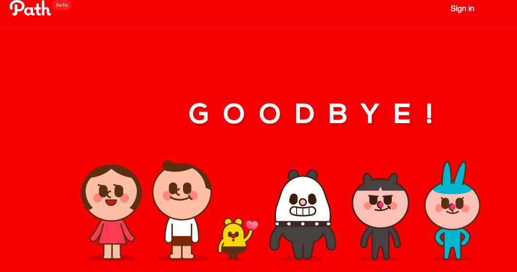 曾被Google出價有意收購的Facebook敵手Path,宣布終止服務