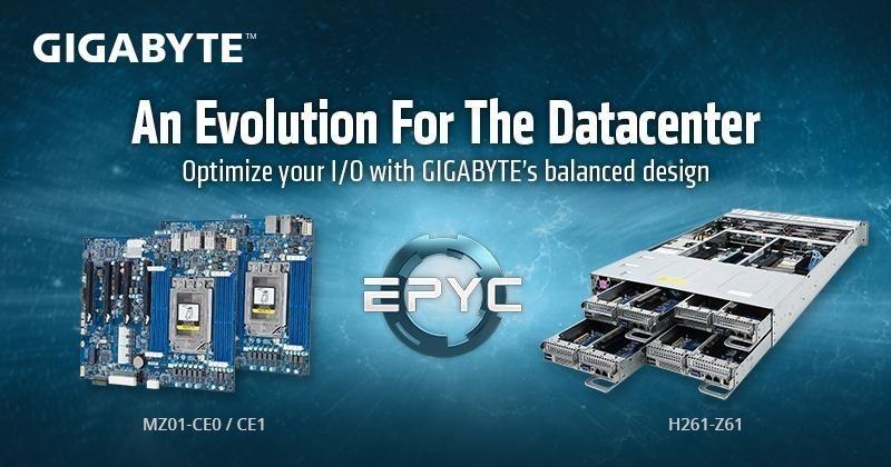 技嘉科技推出新款AMD EPYC系列主機板及2U機身4節點高密度伺服器,為客戶帶來更多新選擇!