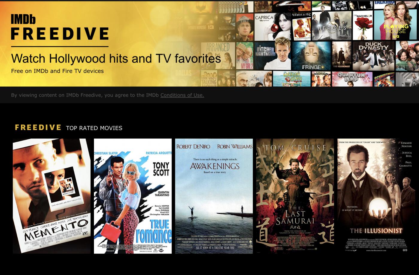 亞馬遜影音資料庫IMDb推串流服務免費看,為了什麼?