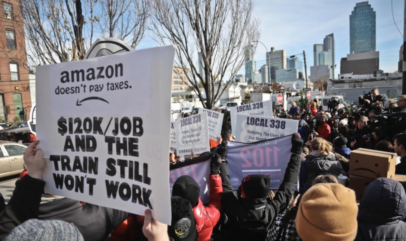 太血汗?紐約市拒絕亞馬遜帶來的2萬5千個工作機會