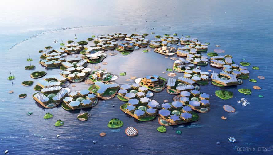 設計Google總部的建築事務所,這次要打造一座萬人居住的「漂浮城市」