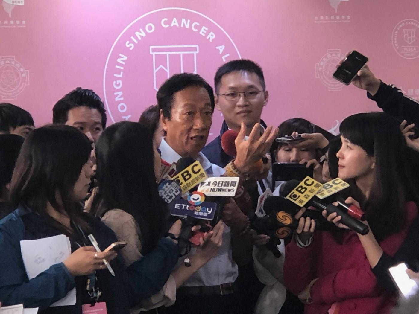 郭台銘的總統之路將揭醫療政策,推動癌症基因資料庫