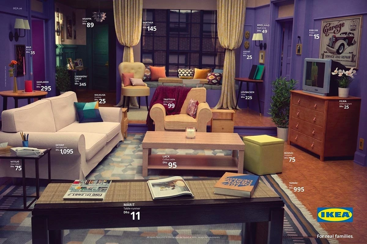 IKEA重現美劇場景!翻遍上百品項,《六人行》、《怪奇物語》經典客廳高度還原