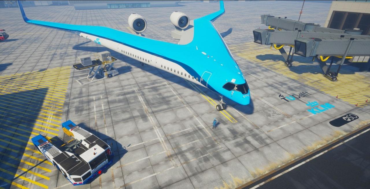長得像片Pizza、機翼上有座位,看荷航未來飛機Flying-V如何愛地球?