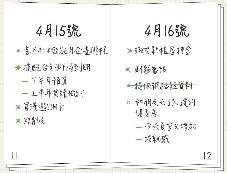 開學前重練效率筆記法!用8種符號寫待辦,一眼釐清每日任務