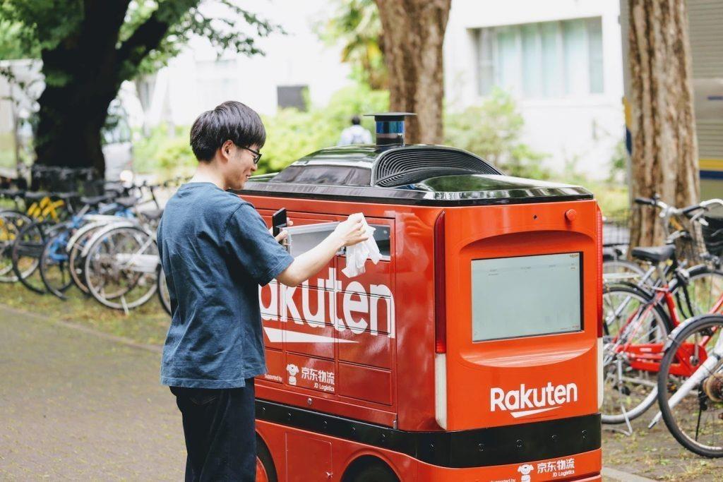 外送員不是人!樂天聯手西友超市推送貨車實驗,從公園開始練兵