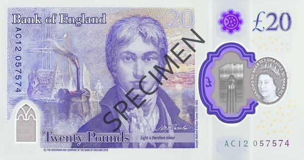 "img 1571210541 63982@900 - 新版""英镑""亮相!2020 年正式发行,首度以艺术家肖像为主题,纸钞材质也有变化"