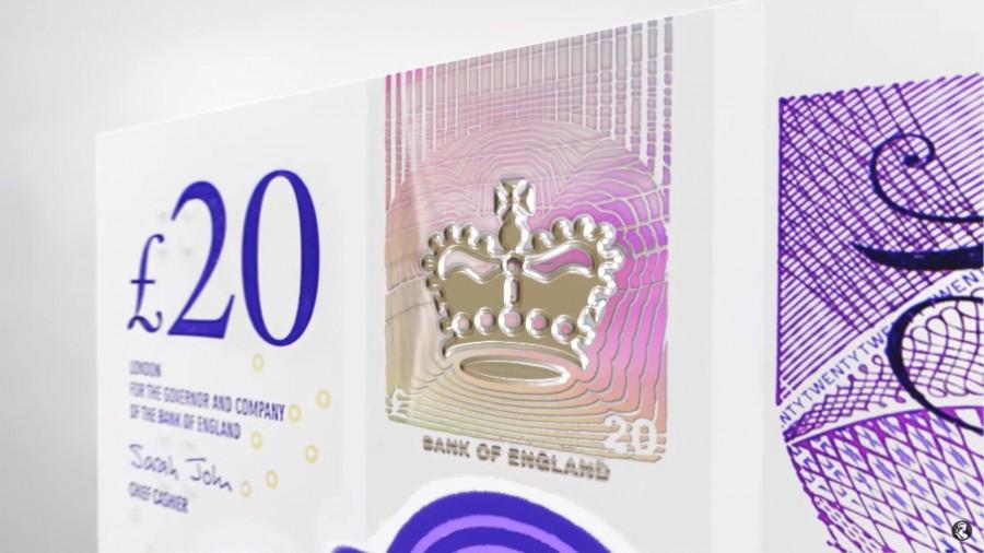 "img 1571218793 72799@900 - 新版""英镑""亮相!2020 年正式发行,首度以艺术家肖像为主题,纸钞材质也有变化"