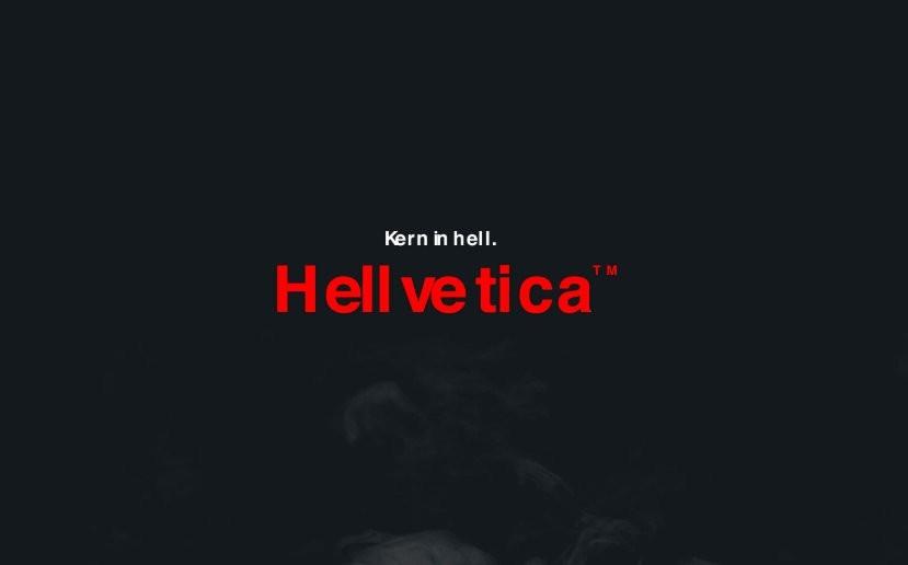 img 1572494287 43545@900 - 设计师过万圣节!恶搞经典字体 Helvetica ,地狱版 Hellvetica 开放下载