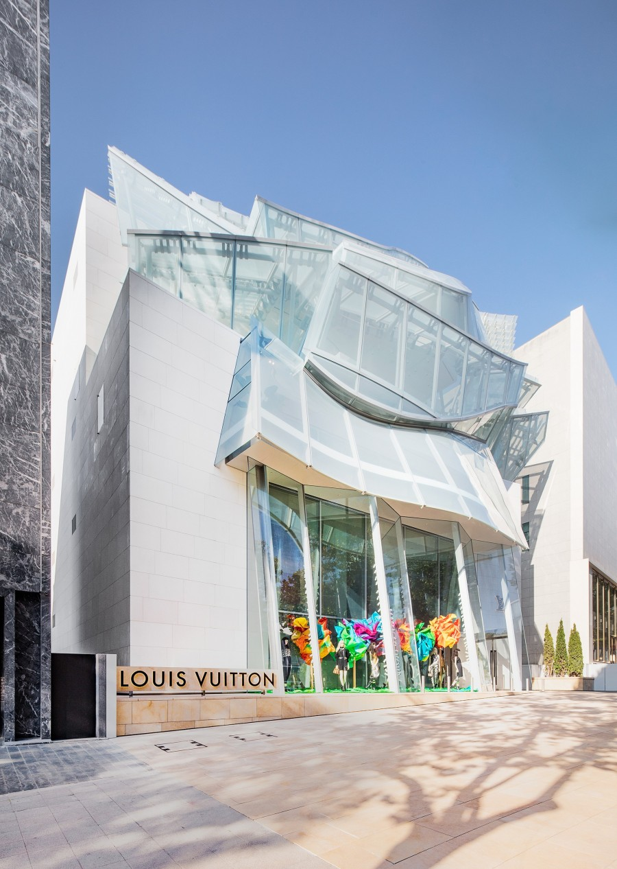 Frank Gehry 韩国首作!充满诗意的玻璃云朵:首尔路易威登 Maison Seoul 3