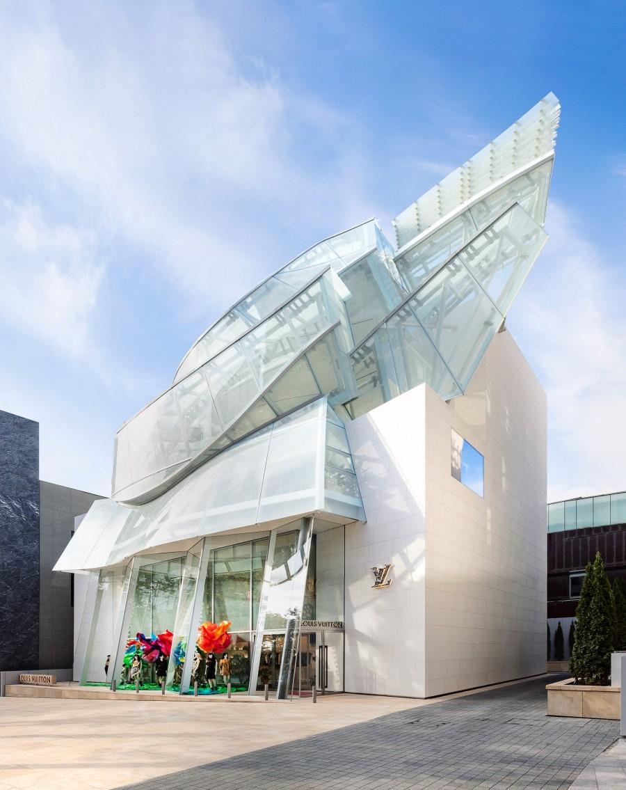 Frank Gehry 韩国首作!充满诗意的玻璃云朵:首尔路易威登 Maison Seoul 6