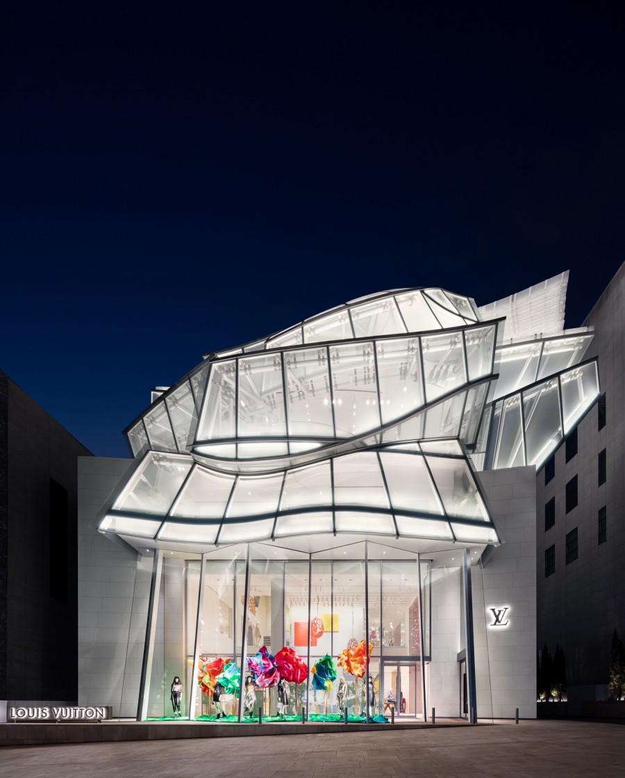 Frank Gehry 韩国首作!充满诗意的玻璃云朵:首尔路易威登 Maison Seoul 4