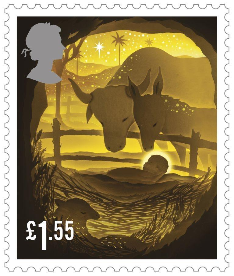 """剪纸艺术跃上邮票!英国推出""""2019 圣诞邮票""""邀艺术家以剪纸和微光说故事 9"""